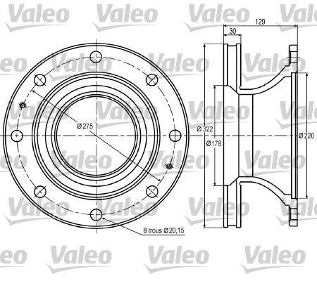 Disco freno VALEO 187005 per FORD: acquisti online