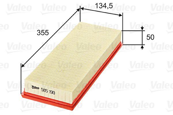 Въздушен филтър 585190 с добро VALEO съотношение цена-качество