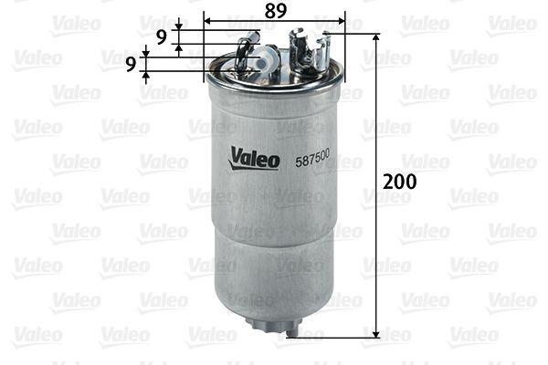 Palivový filtr 587500 s vynikajícím poměrem mezi cenou a VALEO kvalitou