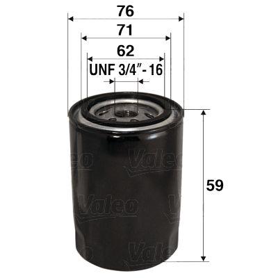 Achetez Filtre à huile VALEO 586065 (Diamètre intérieur 2: 71mm, Diamètre intérieur 2: 62mm, Ø: 76mm, Hauteur: 59mm) à un rapport qualité-prix exceptionnel