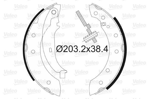 VALEO: Original Bremsbackensatz für Trommelbremse 562581 (Trommel-Ø: 203mm, Breite: 38mm)