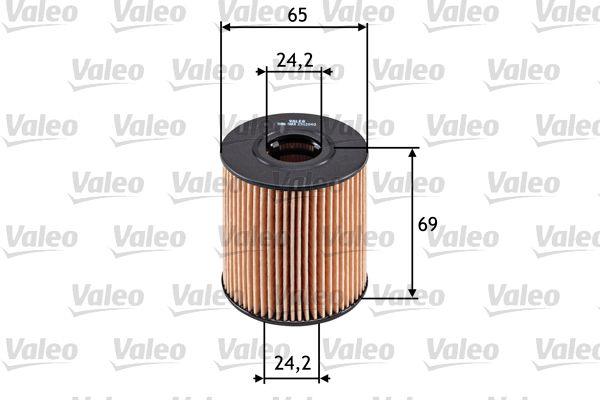 FORD FOCUS 2015 Motorölfilter - Original VALEO 586503 Innendurchmesser 2: 24mm, Innendurchmesser 2: 24mm, Ø: 65mm, Höhe: 69mm
