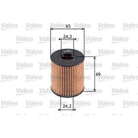 Купете VALEO вложка на филтър вътрешен диаметър 2: 24,2мм, Ø: 65мм, височина: 69мм Маслен филтър 586503 евтино