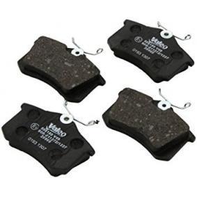 598180 Bremsbelagsatz, Scheibenbremse VALEO 598180 - Große Auswahl - stark reduziert