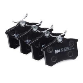 598180 Bremsbelagsatz, Scheibenbremse VALEO - Markenprodukte billig