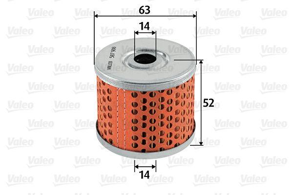 Achat de 587908 VALEO Cartouche filtrante Hauteur: 52mm Filtre à carburant 587908 pas chères