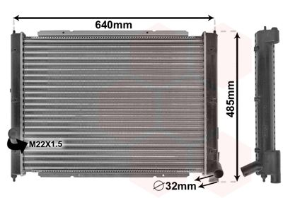 58002034 VAN WEZEL Kühlrippen mechanisch gefügt, Aluminium Kühler, Motorkühlung 58002034 günstig kaufen
