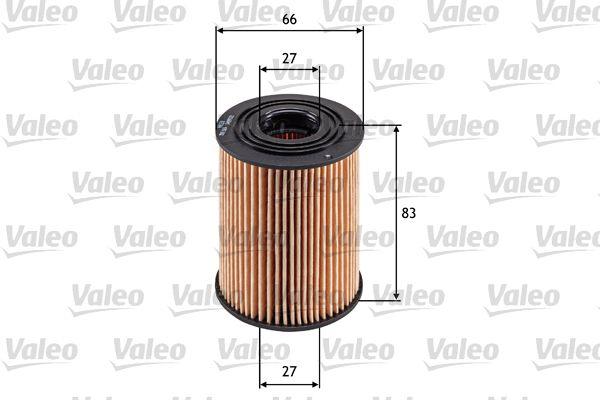 586569 VALEO Filtereinsatz Innendurchmesser: 18mm, Innendurchmesser 2: 18mm, Innendurchmesser 2: 27mm, Ø: 66mm, Höhe: 83mm Ölfilter 586569 günstig kaufen