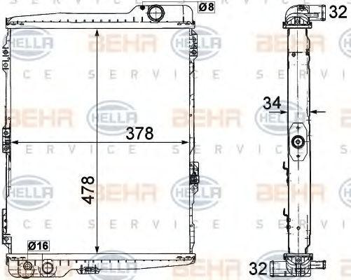 8MK 376 711-274 HELLA Kühlrippen mechanisch gefügt, Schaltgetriebe Kühler, Motorkühlung 8MK 376 711-274 günstig kaufen