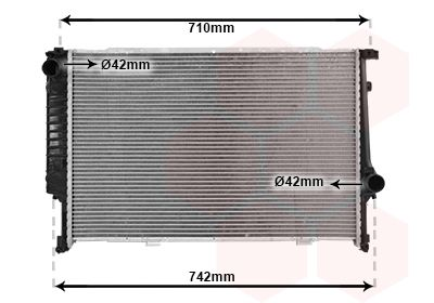 06002133 VAN WEZEL Kühlrippen gelötet, Aluminium Kühler, Motorkühlung 06002133 günstig kaufen