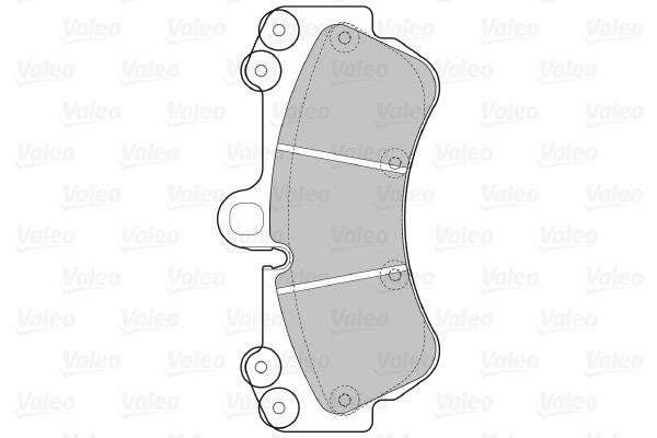 598655 Forros de freno VALEO - Productos de marca económicos