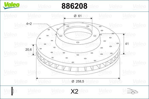 Stabdžių diskas 886208 VALEO — tik naujos dalys
