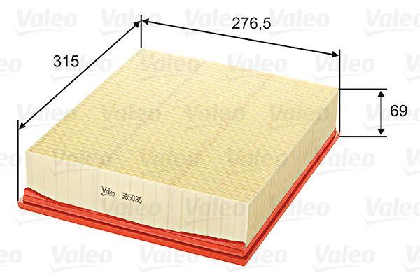 Въздушен филтър 585036 с добро VALEO съотношение цена-качество