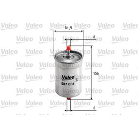 ostke ja asendage Kütusefilter VALEO 587004