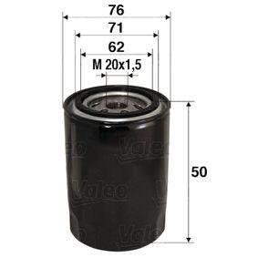 Купете VALEO навиващ филтър вътрешен диаметър 2: 71мм, вътрешен диаметър 2: 62мм, Ø: 76мм, височина: 50мм Маслен филтър 586001 евтино
