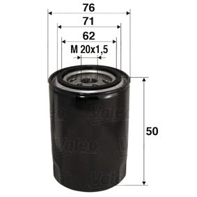 Купете 586001 VALEO навиващ филтър вътрешен диаметър 2: 71мм, вътрешен диаметър 2: 62мм, Ø: 76мм, височина: 50мм Маслен филтър 586001 евтино