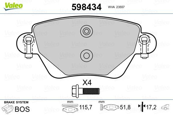 Bremsklötze VALEO 598434