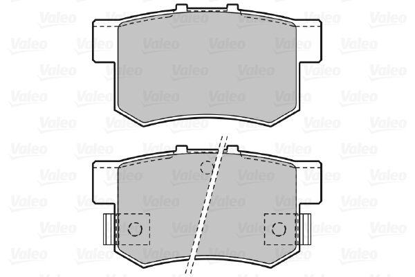 598682 Bremsbelagsatz VALEO - Markenprodukte billig