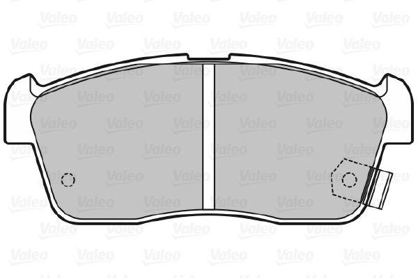 598733 Bremsbelagsatz VALEO - Markenprodukte billig
