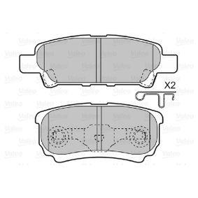 598852 Bremsbeläge VALEO 598852 - Große Auswahl - stark reduziert