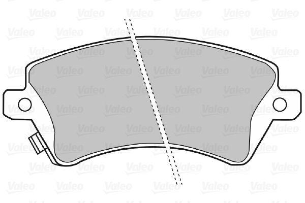 598679 Bremsbelagsatz VALEO - Markenprodukte billig