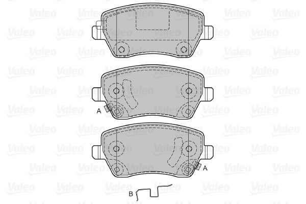 Pieces detachees RENAULT CAPTUR 2015 : Kit de plaquettes de frein, frein à disque VALEO 598641 Hauteur: 52,4mm, Largeur: 116,4mm, Épaisseur: 17,3mm - Achetez tout de suite!