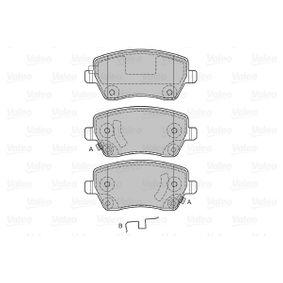 598641 Bremsbeläge VALEO 598641 - Große Auswahl - stark reduziert
