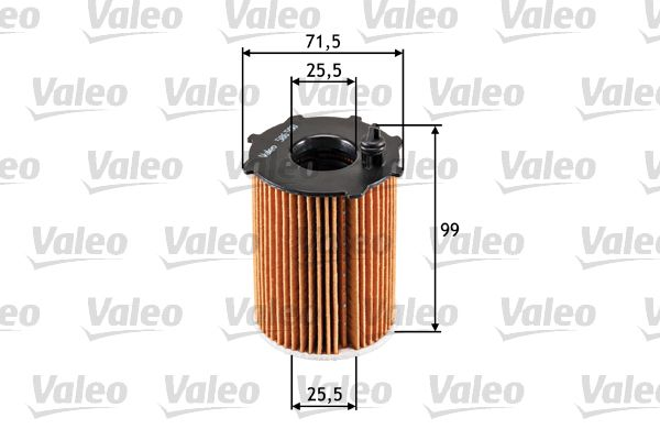 586500 VALEO Filtereinsatz Innendurchmesser 2: 25,5mm, Innendurchmesser 2: 25,5mm, Ø: 71,5mm, Höhe: 99mm Ölfilter 586500 günstig kaufen