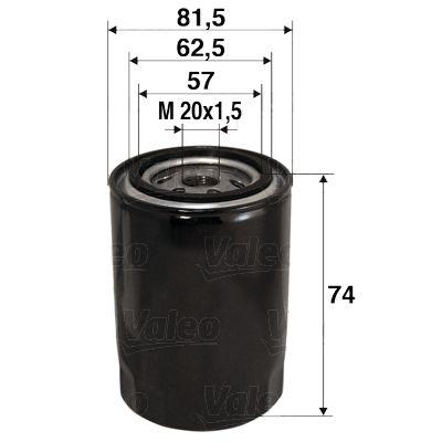 586017 Motorölfilter VALEO in Original Qualität