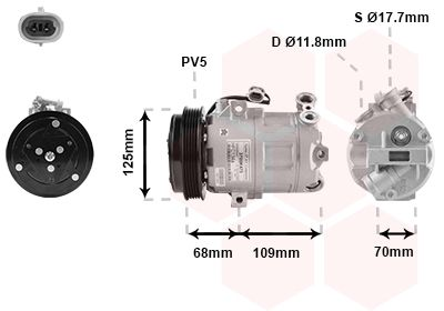Original OPEL Klimakompressor 3700K475