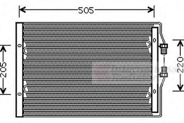 28005065 VAN WEZEL Kondensor, klimatanläggning: köp dem billigt