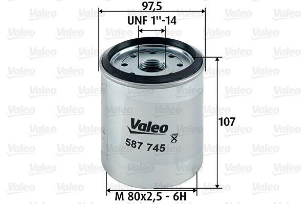 Купете 587745 VALEO навиващ филтър височина: 107мм Горивен филтър 587745 евтино
