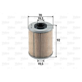 Pērc un aizvieto Degvielas filtrs VALEO 587907