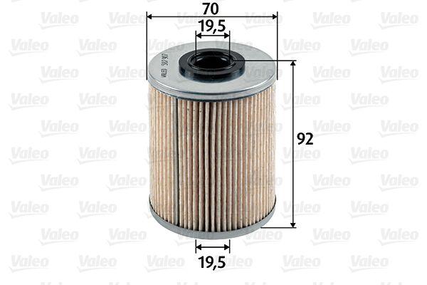 VALEO: Original Spritfilter 587907 (Höhe: 92mm)