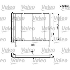 732435 VALEO Kupfer Kühler, Motorkühlung 732435 günstig kaufen