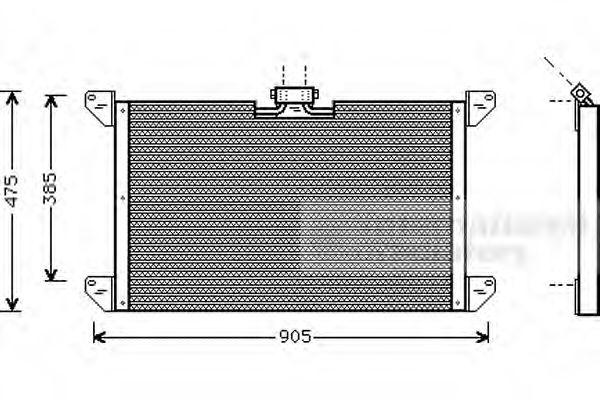 46005009 VAN WEZEL Kondensor, klimatanläggning: köp dem billigt