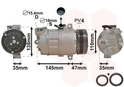 OE Original Kompressor Klimaanlage 0600K395 VAN WEZEL