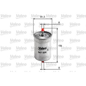 Koop en vervang Brandstoffilter VALEO 587006