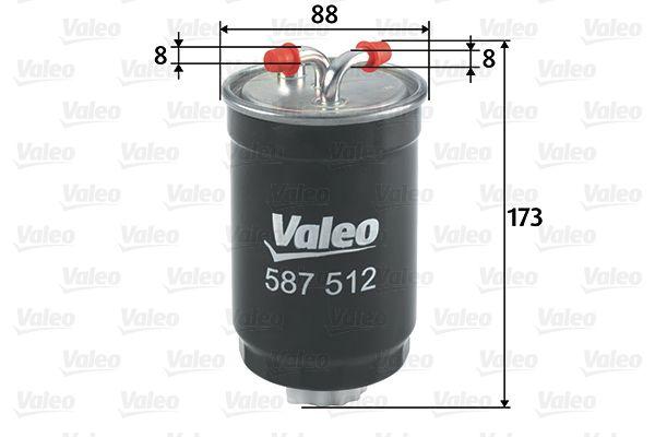 ROVER 25 2002 Spritfilter - Original VALEO 587512 Höhe: 173mm