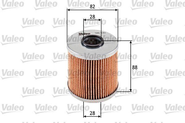 VALEO: Original Ölfilter 586543 (Innendurchmesser 2: 28mm, Innendurchmesser 2: 28mm, Ø: 82mm, Höhe: 88mm)