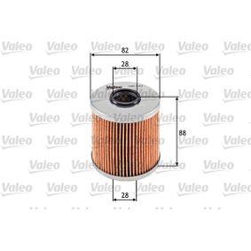 586543 VALEO Filtereinsatz Innendurchmesser 2: 28mm, Ø: 82mm, Höhe: 88mm Ölfilter 586543 günstig kaufen