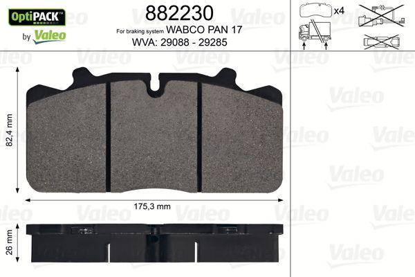 882230 VALEO Bremsbelagsatz, Scheibenbremse für IVECO EuroCargo IV jetzt kaufen