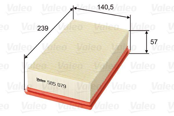 Zracni filter 585079 z izjemnim razmerjem med VALEO ceno in zmogljivostjo