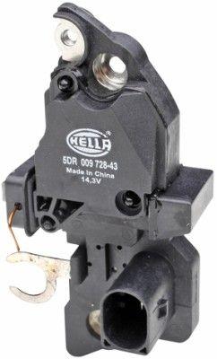 HELLA: Original Regler Lichtmaschine 5DR 009 728-431 (Nennspannung: 12V, Betriebsspannung: 14,3V)