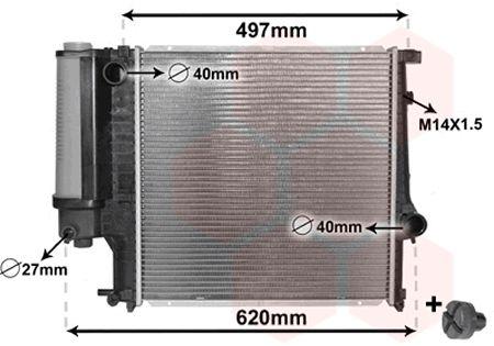 06002124 Kühler Motorkühlung VAN WEZEL in Original Qualität