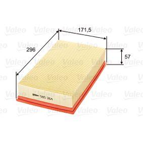585264 VALEO Länge: 294mm, Breite: 171mm, Höhe: 57mm Luftfilter 585264 günstig kaufen