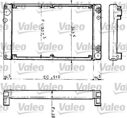 RA165 VALEO ohne Kühlmittelregler, Aluminium Kühler, Motorkühlung 810953 günstig kaufen