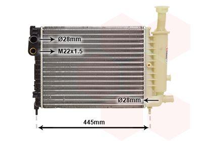 09002046 VAN WEZEL Kühlrippen mechanisch gefügt, Aluminium Kühler, Motorkühlung 09002046 günstig kaufen