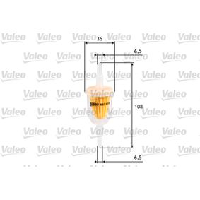 buy and replace Fuel filter VALEO 587000