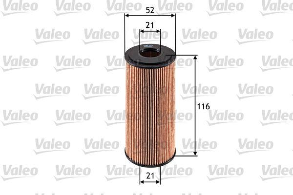 586514 VALEO Filter Insert Inner Diameter 2: 21mm, Inner Diameter 2: 21mm, Ø: 52mm, Height: 116mm Oil Filter 586514 cheap